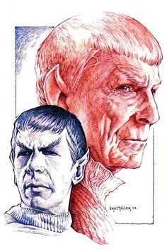 Leonard Nimoy as Mr. Spock Comic Art