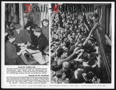 orig. WWII Press Photo - Hitler Youth with Dr. Goebbels - Date of publication: March 19, 1942