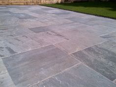 Indian Sandstone Riven Grey: Ethically sourced Riven is a specially graded Indian sandstone paving featuring a riven finish to reflect the natural origin of the stone.