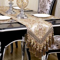Warm Home Modern Jacquard Floral Table Runner Handmade Tassel Embroidered Table Runners Khaki 13 By 88 Inch Multi-tassels WarmHome http://www.amazon.com/dp/B01CJC9L10/ref=cm_sw_r_pi_dp_oCK-wb1CNVRQR