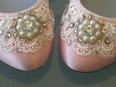 Pink Sugar Bridal Ballet Flat Wedding Shoes