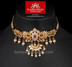 Stunning gold vanki designs by Kameswari Jewellers. Shop online from one of the foremost South India's traditional jewellers. Antique Jewellery Designs, Gold Earrings Designs, Gold Jewellery Design, Handmade Jewellery, Bridal Jewellery, Earrings Handmade, Gold Jewelry Simple, Silver Jewelry, Glass Jewelry