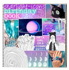 """""""&&✩; birthday book"""" by starlight-icons ❤ liked on Polyvore featuring art and starlightbirthday"""