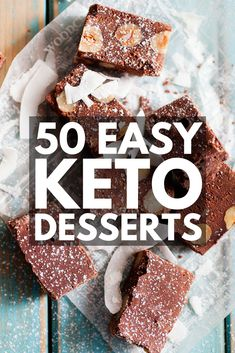 50 Easy Keto Desserts for Weight Loss   Looking for keto dessert recipes to help you lose weight without feeling deprived? We've rounded up 50 low carb sweets you can indulge in while on the ketogenic diet! From quick chocolate fat bombs and mug cakes, to cheesecake, almond flour cookies, and no bake coconut treats, we've got the best keto desserts to support your weight loss goals.