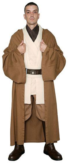 STAR WARS : Costumes and Toys : * Star Wars Obi-Wan Kenobi Costume - Tunic with Replica LIGHT BROWN Jedi Robe
