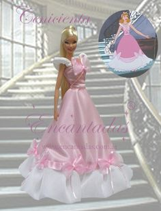 This is my version of Cinderella's Pink dress and is one of my Disney Princess replicas for Barbie size dolls Cinderella's Pink dress Disney Barbie Dolls, Barbie Top, Doll Clothes Barbie, Cinderella Pink Dress, Cinderella Doll, Barbie Gowns, Barbie Dress, Custom Barbie, Rapunzel Costume