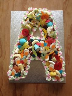 Letter 'A' sweetie cake