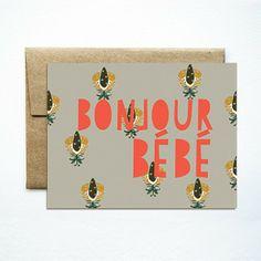 Bonjour Bebe Card by Ferme a Papier