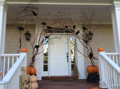 An elegant and haunting way to greet your guests during Halloween.