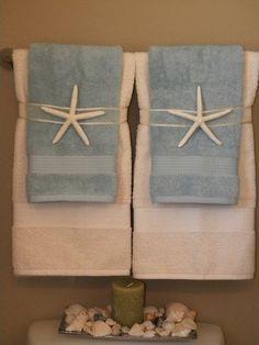 Bathroom towel display