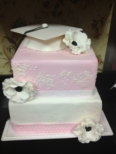 Who says it needs to be in the School colors?? I adore this cake for a Girl!!!