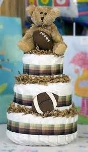 how to make a football diaper cake for a boy - Yahoo Image Search Results