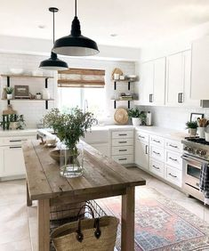 Urban + Gray Home ~Shelby on Hello Saturday with all your clouds mixed with sun, I see you. The last few days off have been work on my office project days and this Modern Farmhouse Kitchens, Farmhouse Kitchen Decor, Home Decor Kitchen, Kitchen Furniture, Home Kitchens, Kitchen Modern, Kitchen Ideas, Italian Kitchen Decor, Eclectic Kitchen
