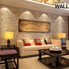 living con paredes de piedra - Buscar con Google
