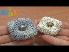 ▶ Stuffed Square Button Crochet Tutorial 3 Part 2 of 2 Crochet Decrease Stitches - YouTube