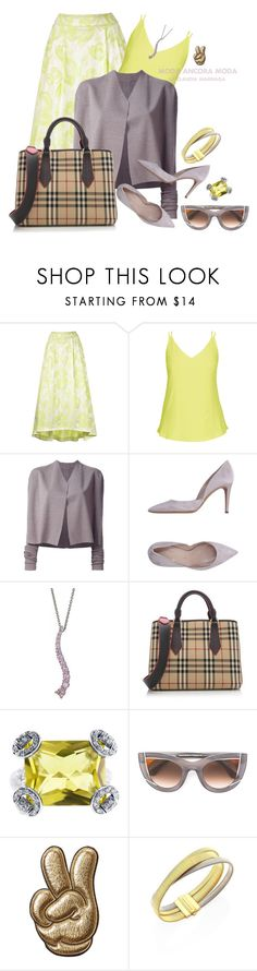 """""""Look Clasico"""" by rudyclau on Polyvore featuring moda, City Chic, Rick Owens, Burberry, Gucci, Thierry Lasry, Anya Hindmarch e Marco Bicego"""