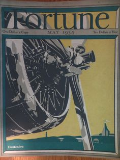 Fortune Magazine   May 1934    *F.V. Carpenter Cover*   GREAT ADS