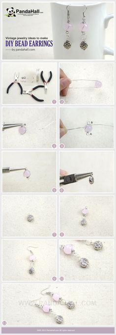 Tutorial on DIY bead earrings from pandahall.com