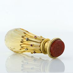 French 19th century 18 Karat Yellow Gold and Citrine Seal