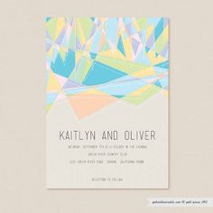 Free  Printable Invitation 5 x 7 Card by gabipress on Etsy, $10.00