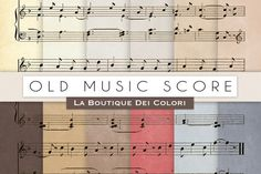 Old Music Score Digital Papers By La Boutique Dei Colori