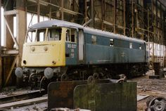 The end is nigh for 85027 (E3082) at Crewe Works on the 28th April 1985.---- England
