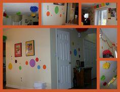 Rainbow polka dot decorating ideas