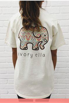 Summer Ivory Ella T-shirt Women Clothing Tee Fashion Animal Elephant Print T Shirt Loose Short Sleeve Harajuku Casual Tops Elephant Pattern, Elephant Print, Cartoon Elephant, T Shirts For Women, Clothes For Women, Cute Shirts, Pjs, Cute Outfits, Preppy Outfits