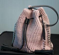 Trendy bag Chain hand bag Small shoulder bag Dust pink