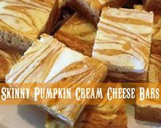 MOM'S KITCHEN: Skinny Pumpkin Cream Cheese Bars