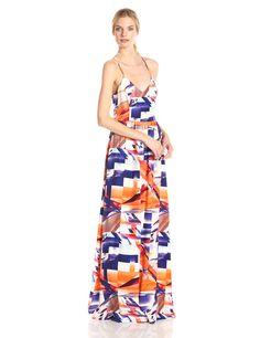 Parker Women s Miles Silk Twist Back Maxi Dress, Chagall Casual Dresses,  Chic, Silk 3d96b3dfca86