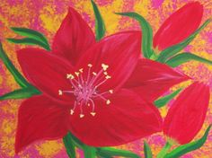 Red Lily by Elizabeth Janus by Elizabeth Janus