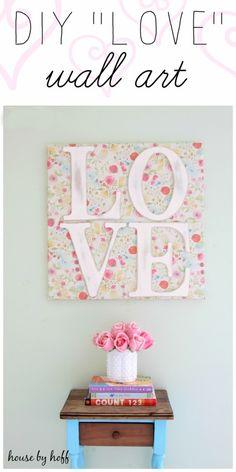 "DIY ""LOVE"" Wall Art - House by Hoff"