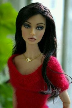 Fashion doll simple gold necklace