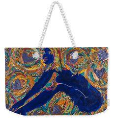 Vesica Pisces Weekender Tote  Artwork by Apanaki Temitayo M  Shop Apanaki Designs IG