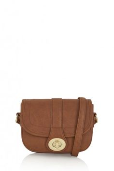 Raf American Tan cross-body bag by marc b. Inspired by the saddle bag silhouette, the Raf bag combines a clean shape with classic style - perfect for everyday wear.