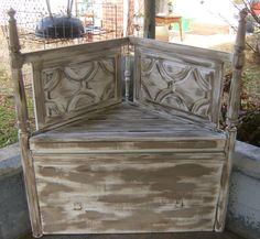 Handmade Corner Bench. $225.00, via Etsy.