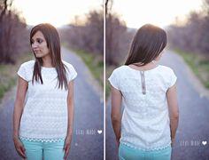 DIY Sewing : DIY Women's Lace Exposed Zipper Top