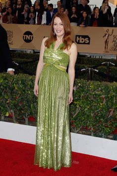 Julianne Moore in a Givenchy Couture dress and Chopard jewelry.