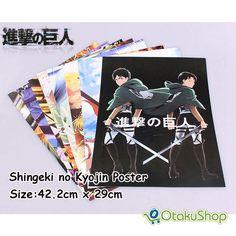Shingeki no Kyojin Posters Attack on Titan Products 8 Pieces  |  OtakuShop