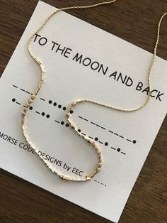 TO THE MOON and Back, Morse Code Necklace, Secret Message Jewelry, Morse Code Jewelry, Secret Code, Perfect Bridesmaid Gift, Daughter Gift