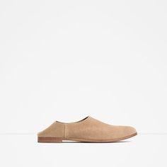 SAPATO RASO PELE-Sapatos rasos-SAPATOS-MULHER | ZARA Portugal