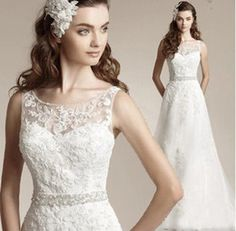 Europe and the United States bride fish tailing perspective deep V collar lace wedding dress 2015 new winter 519