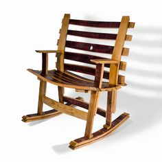 Wine Barrel Project Rocking Chair