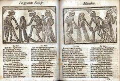 La Grande Danse Macabre des Hommes et des Femmes - Garnier, 1728 folio f1v-f2r