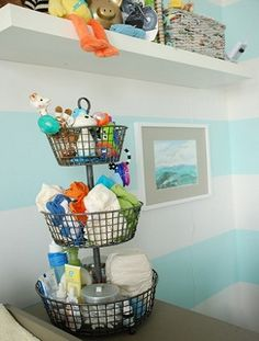 Changing Table Organizer Idea