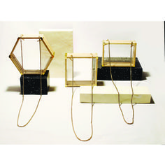 Clear Acrylics Natural Wood Geometric Bags by Blue Ribbon Objects