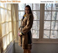 RED HOT SALE Mod Faux Fur and Leather by LastDanceVintage on Etsy
