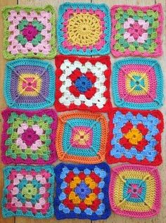 I had to come back to the granny squares...it was inevitable. As I research images and patterns it always comes back to the granny square....
