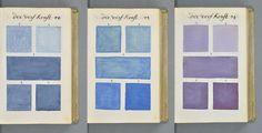 Traité des Couleurs servo à la Peinture à l' eau é provavelmente, o mais completo guia de cores de antigamente. O livro foi achado recentemente na França.